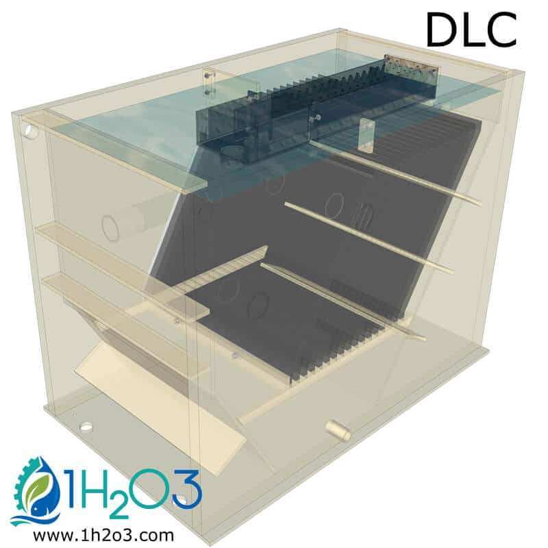 Décanteur lamellaire compact DLC - TRANSPARENT 1h2o3