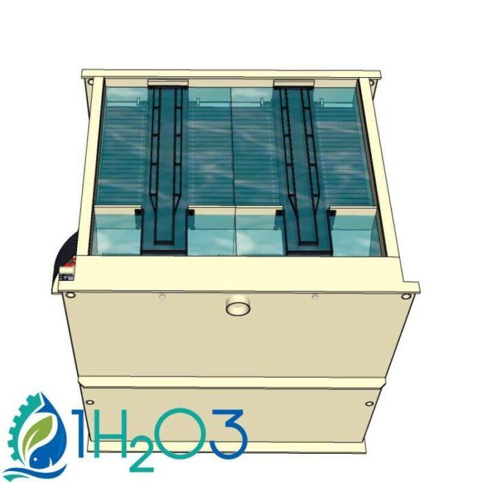 Décanteur lamellaire monobloc DLM-M - transparence 1h2o3