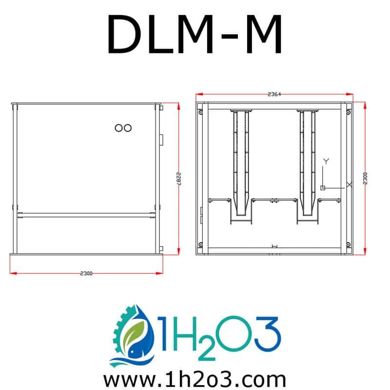 Décanteur lamellaire monobloc extérieur M - DLM-M AUTOCAD 1h2o3