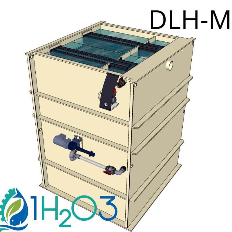 Décanteur lamellaire HAUT DLH-M - 800X800 1H2O3