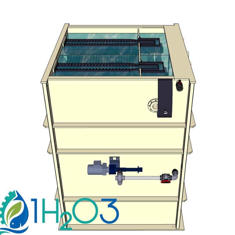 Décanteur lamellaire HAUT DLH-M - transparence 1H2O3