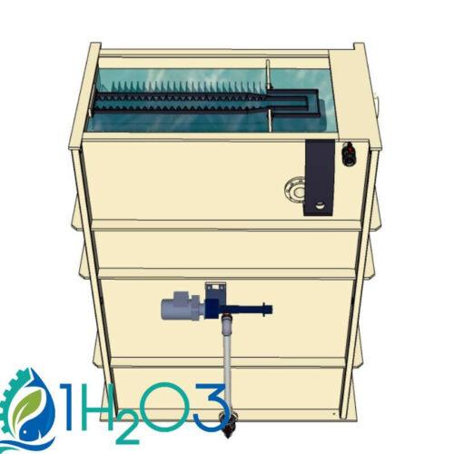 Décanteur lamellaire HAUT DLH-S - 800X800 1H2O3