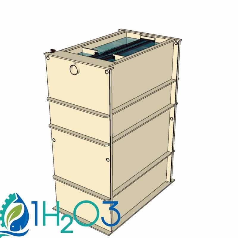 Décanteur lamellaire HAUT DLH-S - transparence 1H2O3