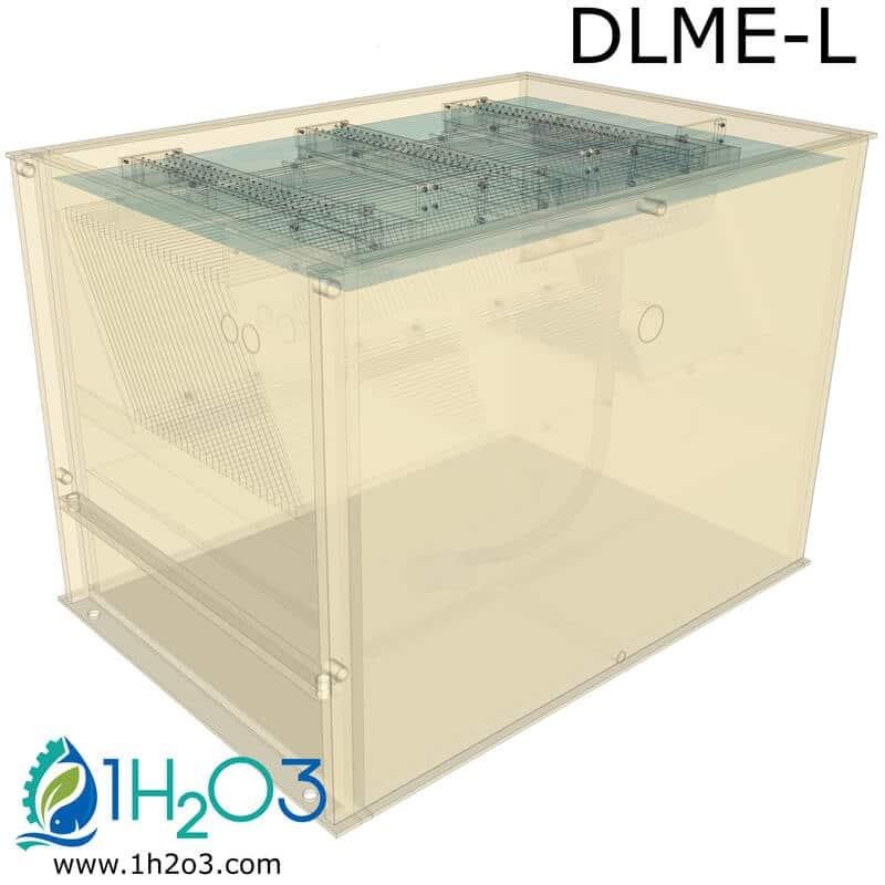 Décanteur lamellaire monobloc DLME-L - transparence 1H2O3