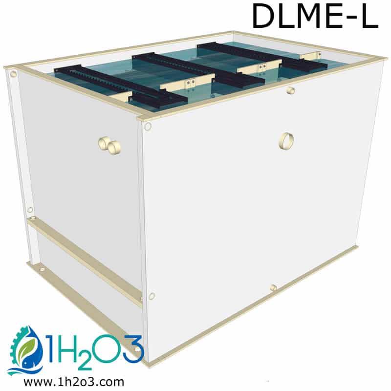 decanteur lamellaire exterieur 36m2 DLE36 image 3d vue complete 1h2o3