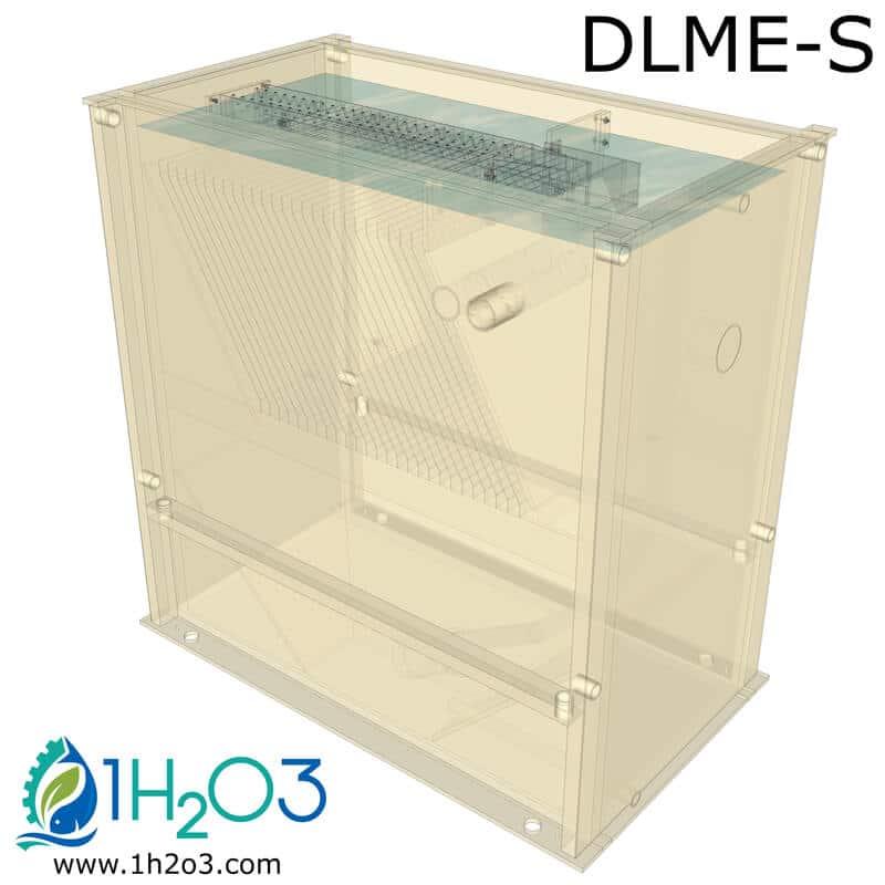 Décanteur lamellaire monobloc extérieur DLME-S - transparence 1h2o3