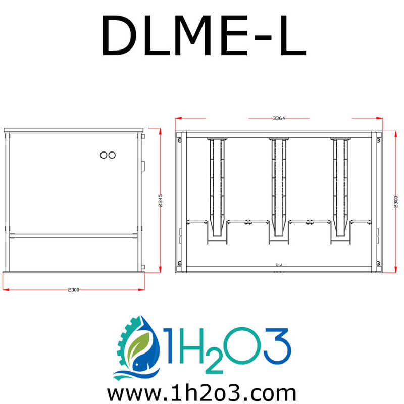 Décanteur lamellaire monobloc extérieur L - DLME-L AUTOCAD 1H2O3