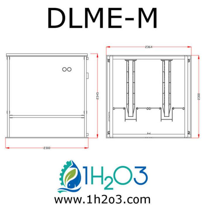 Décanteur lamellaire monobloc extérieur M - DLME-M AUTOCAD 1H2O3