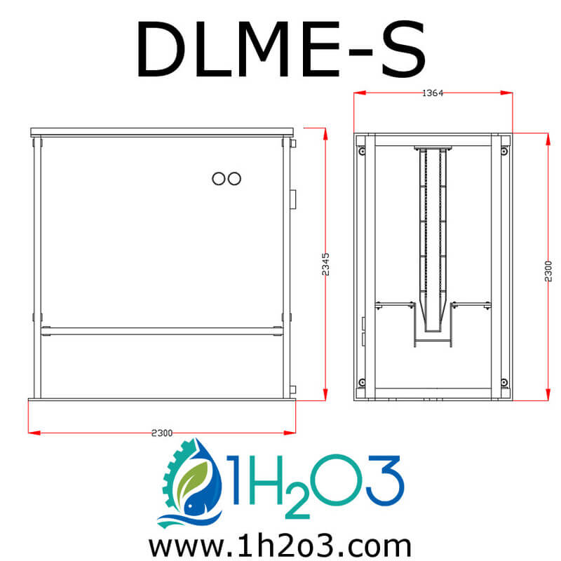 Décanteur lamellaire monobloc extérieur S - DLME-S AUTOCAD 1h2o3