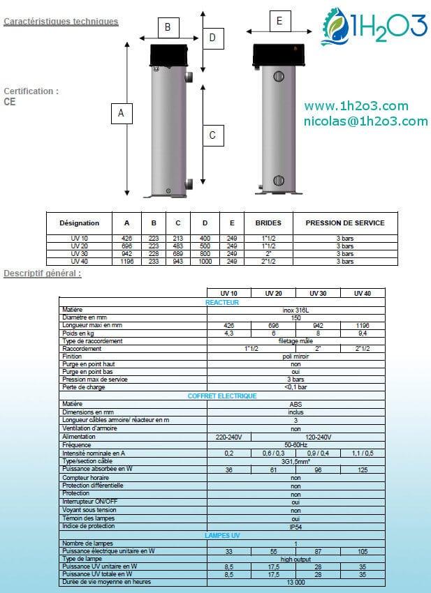 Fiche-technique-reacteur-desinfection-UV-pour-leau-gamme-UV10-UV20-UV30-UV40-1h2o3