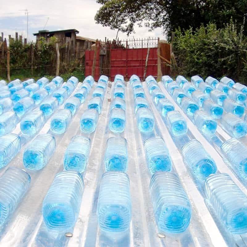 Evolution de la purification de l'eau bouteille soleil