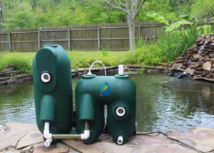 Petits filtres à billes compacts pour aquaponie carpes koi 1h2o3