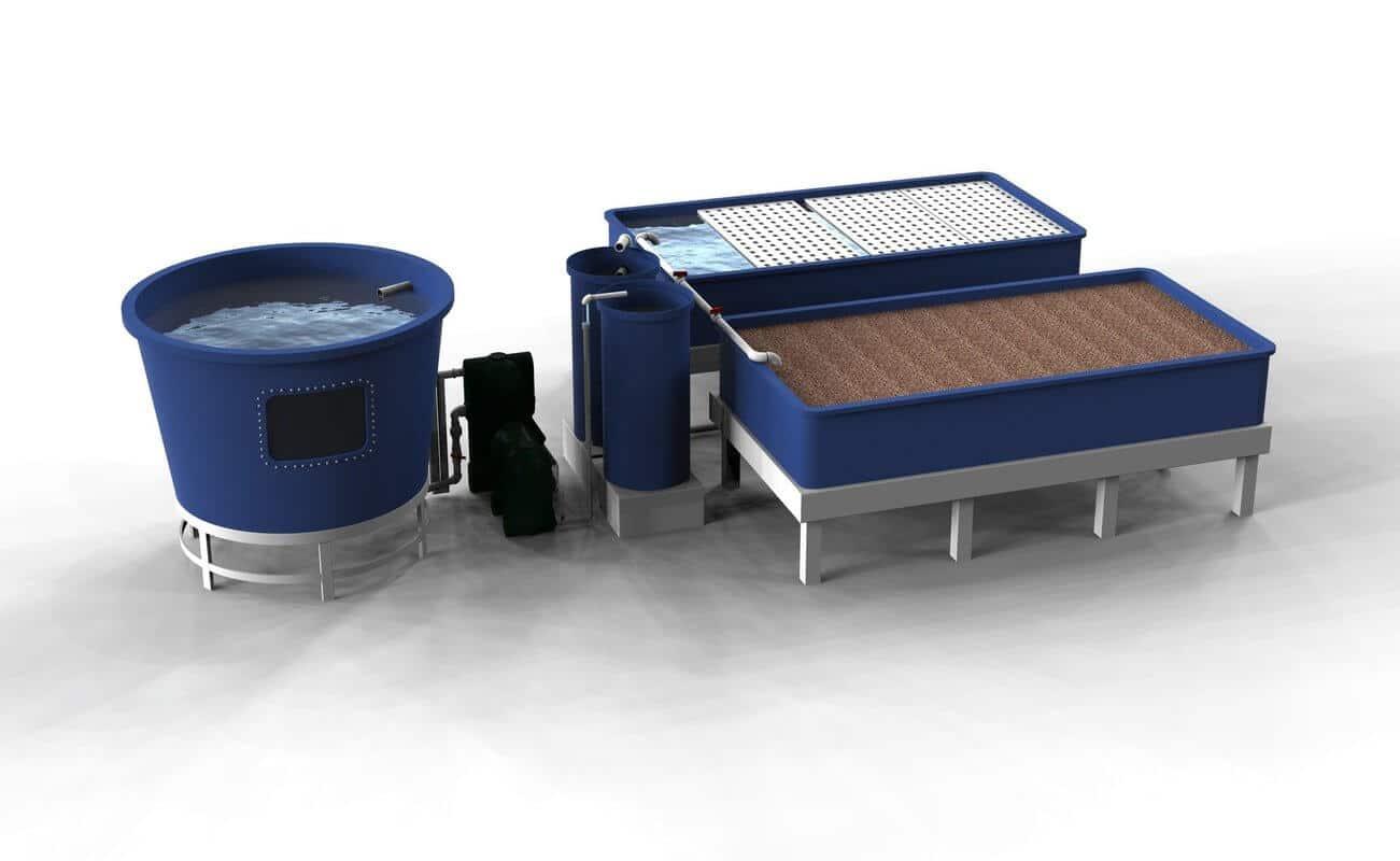 Petits systèmes aquaponiques domestiques Home Aquaponics Small decoupled Aquaponics Systems 1h2o3