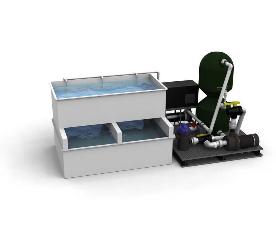 Retailer Lobster Holding Systems filtration vivier de restaurant 1h2o3