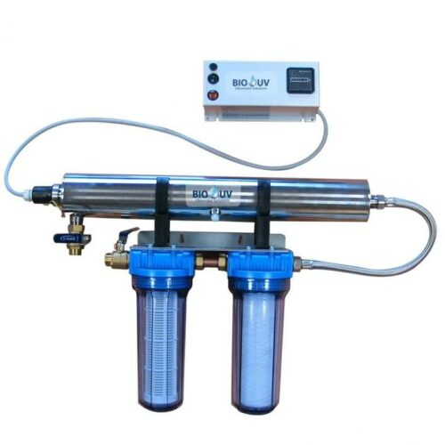kit de potabilisation uv home 2 avec 2 filtres 1h2o3