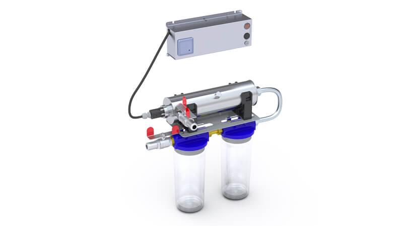 kit de potabilisation uv home 3 avec 2 filtres 1h2o3