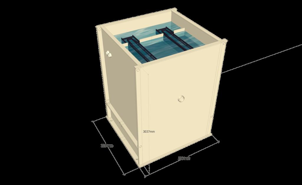 fabrication sur mesure box décantation lamellaire mbbr box 1h2o3