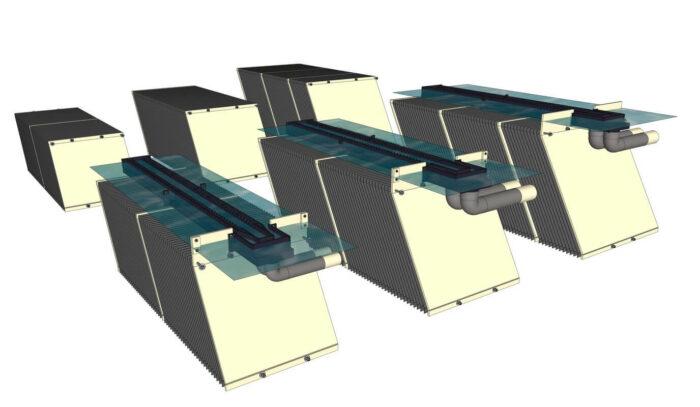 Blocs lamellaires personnalisés customized lamella block 1h2o3