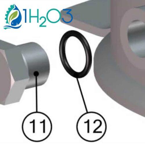 bouchon de purge et son joint torique bio uv 1h2o3
