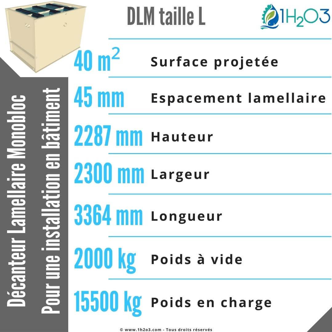 Décanteur lamellaire monobloc L - DLM-L 40 m² 1h2o3