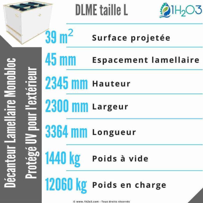 Décanteur lamellaire monobloc L extérieur - DLME-L 39 m² 1h2o3