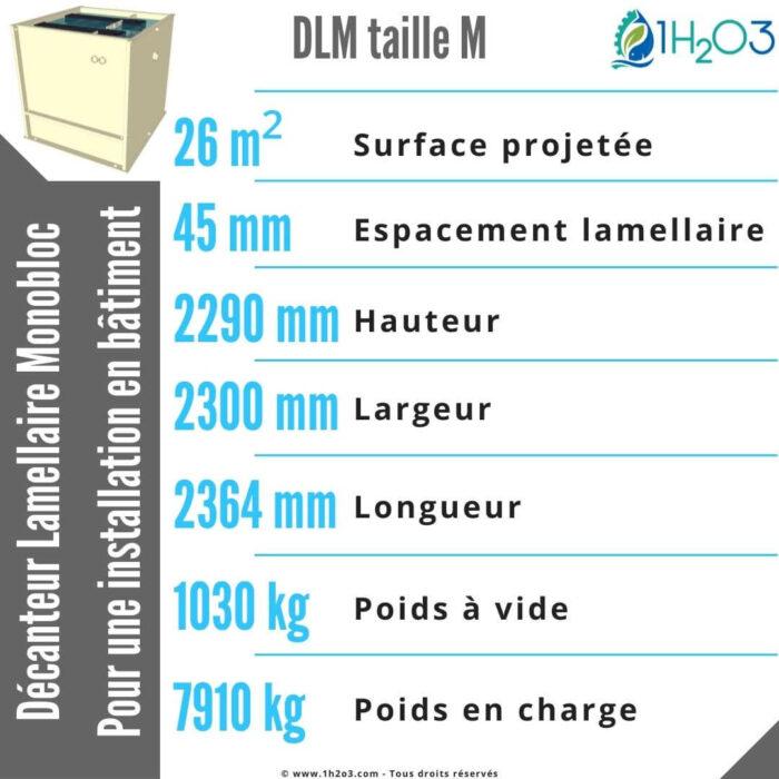 Décanteur lamellaire monobloc M - DLM-M 26 m² 1h2o3