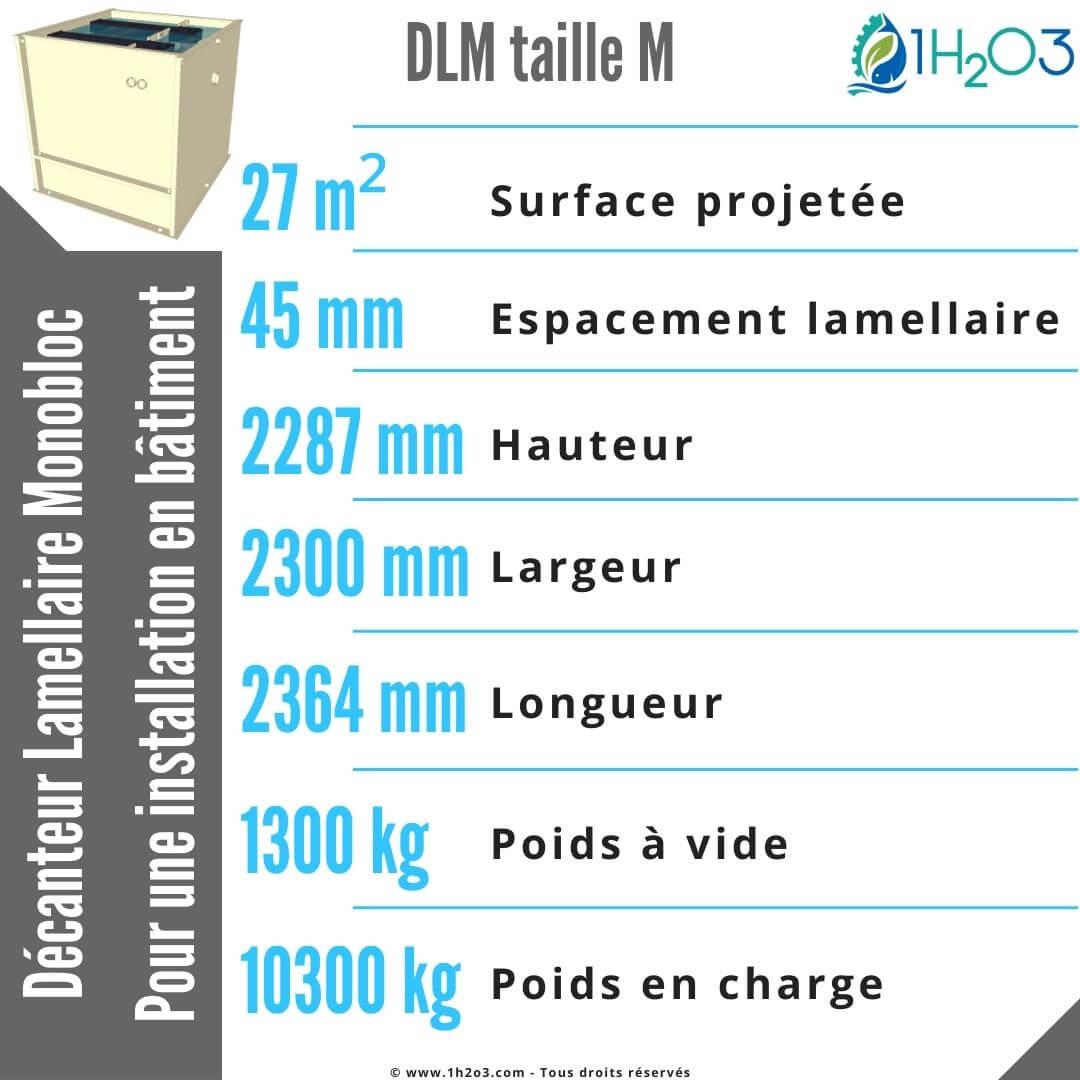 Décanteur lamellaire monobloc M - DLM-M 27 m² 1h2o3