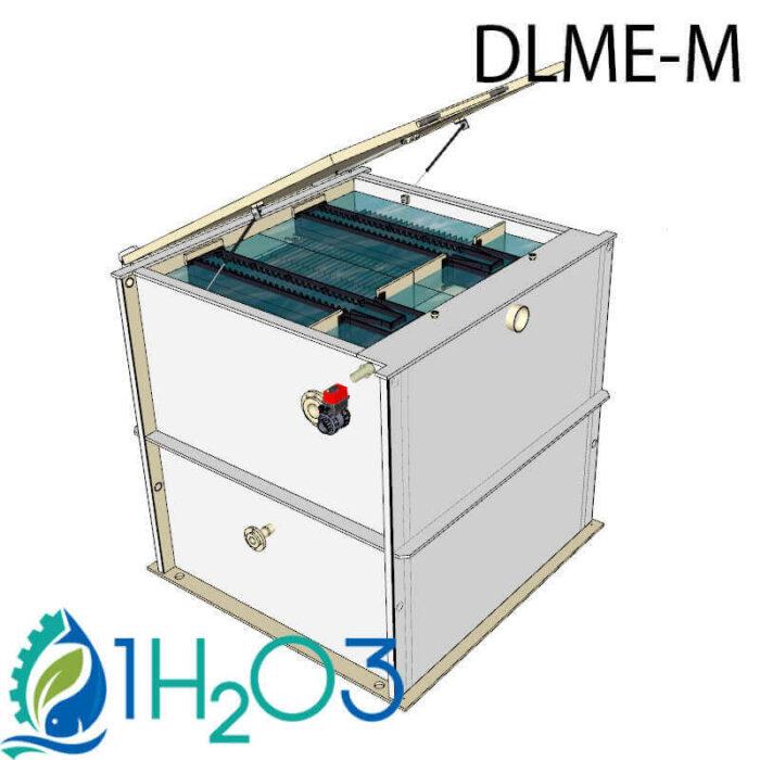 Décanteur lamellaire monobloc M extérieur - DLME-M 26 m² 1h2o3