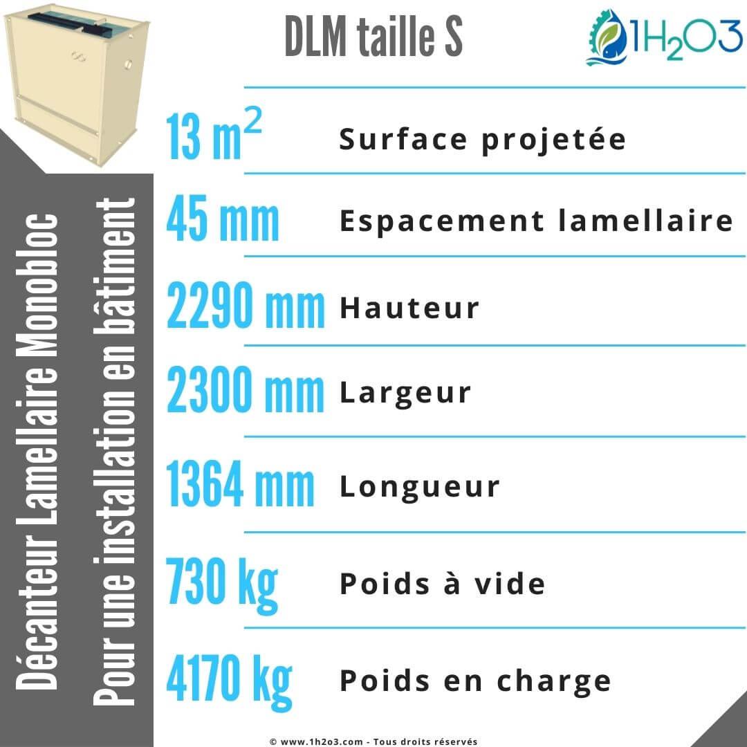 Décanteur lamellaire monobloc S - DLM-S 13,5 m² 1h2o3