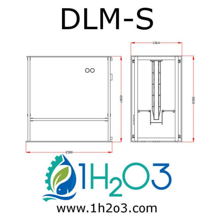 Décanteur lamellaire monobloc S - DLM-S AUTOCAD 800x800 1H2O3