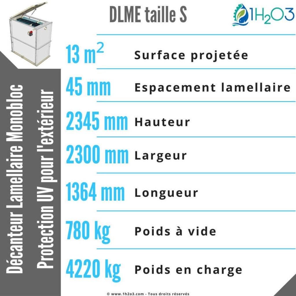 Décanteur lamellaire monobloc S extérieur - DLME-S 13 m² 1h2o3