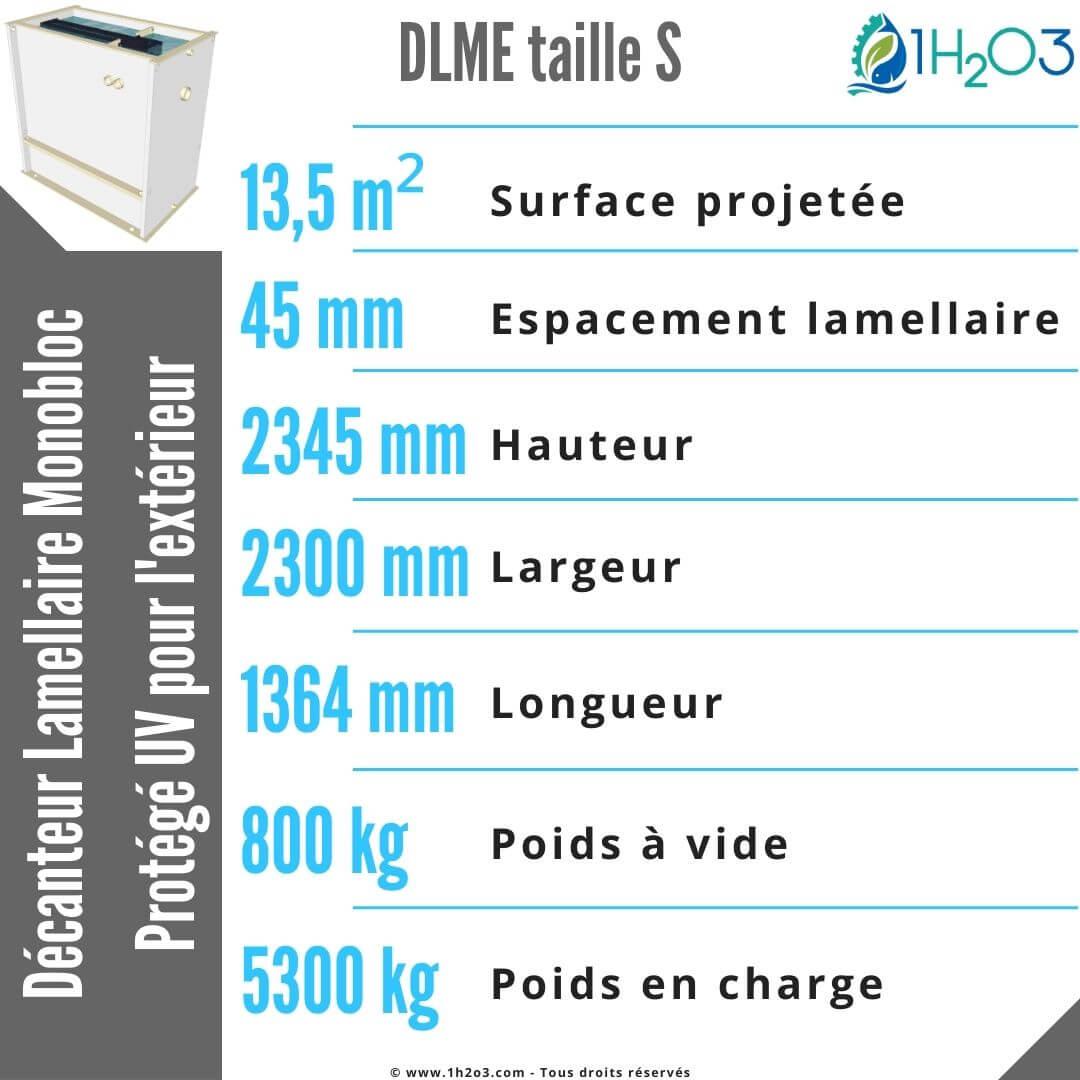 Décanteur lamellaire monobloc S extérieur - DLME-S 13,5 m² 1h2o3