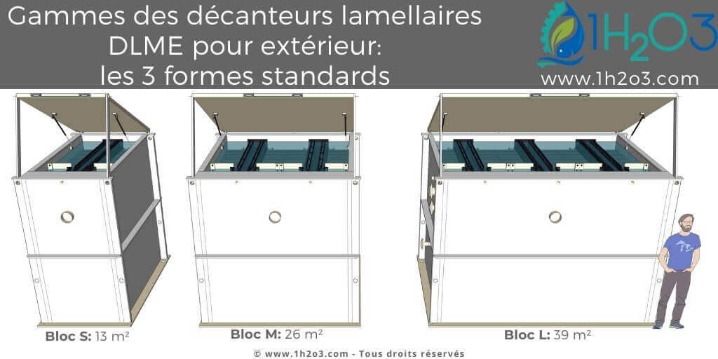 Gamme des décanteurs lamellaires monoblocs DLME pour extérieur 1h2o3