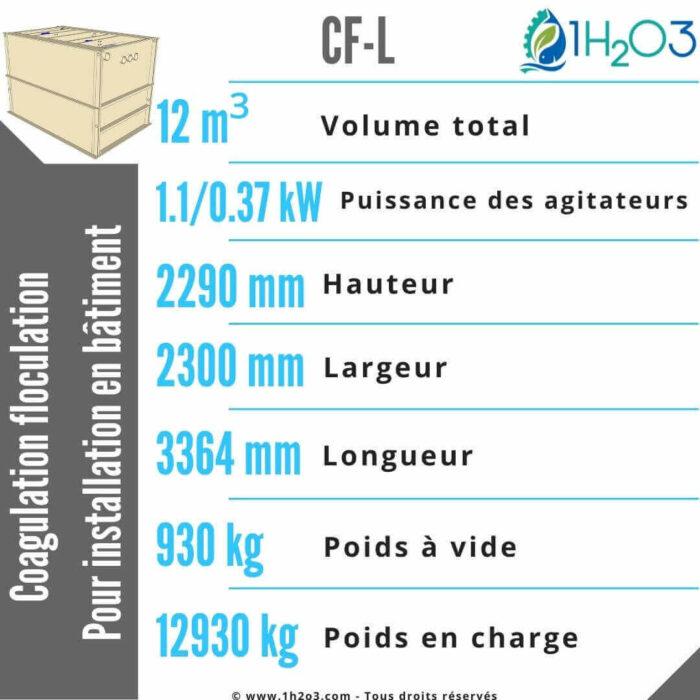 Coagulation floculation CF-L -12m³-1h2o3