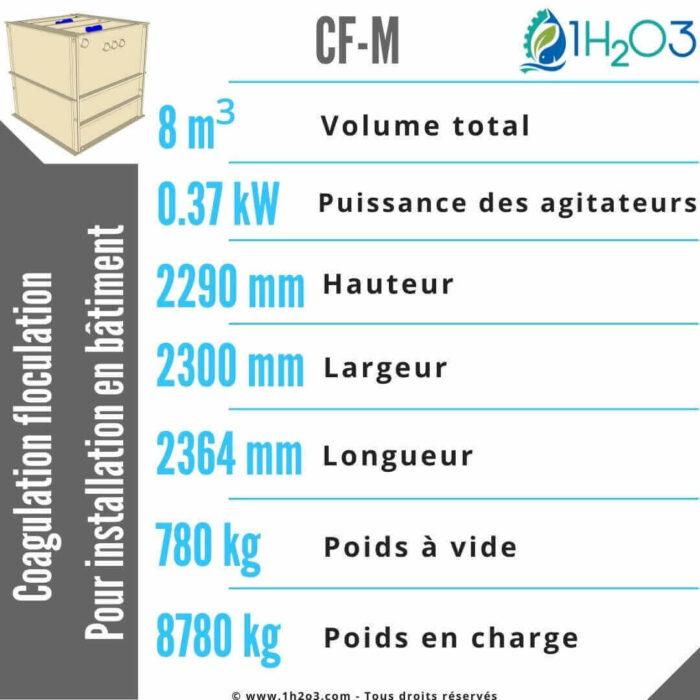 Coagulation floculation CF-M -8m³-1h2o3