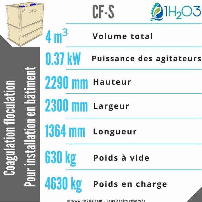 Coagulation floculation CF-S -4m³-1h2o3