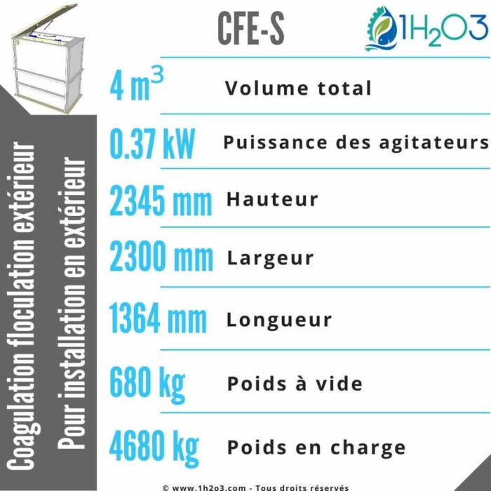 Coagulation floculation extérieur CFE-S-4m³-1h2o3
