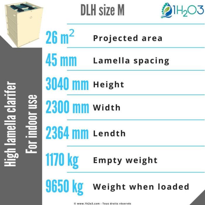 High DLH-M Lamella Clarifier 26m²-1h2o3