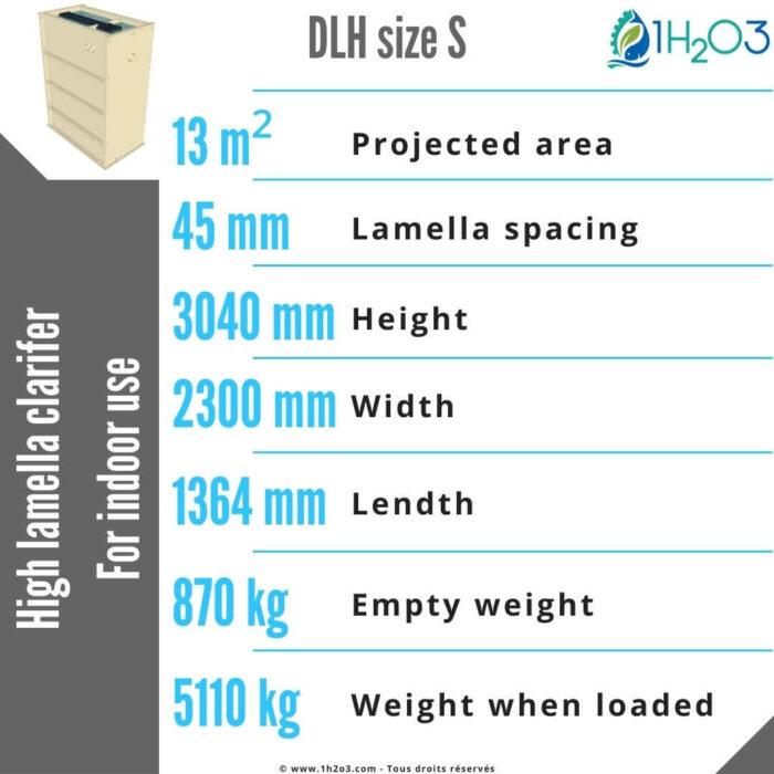 High DLH-S Lamella Clarifier 13 m² 1h2o3