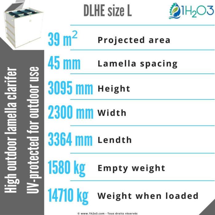 High outdoor lamella clarifier DLHE-L-39-m²-1h2o3