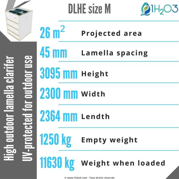 High outdoor Lamellar Clarifier DLHE-M-26-m²-1h2o3