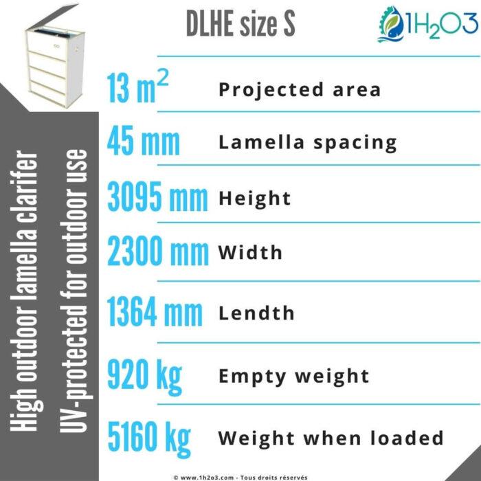High outdoor lamella clarifier DLHE-S-13-m²-1h2o3
