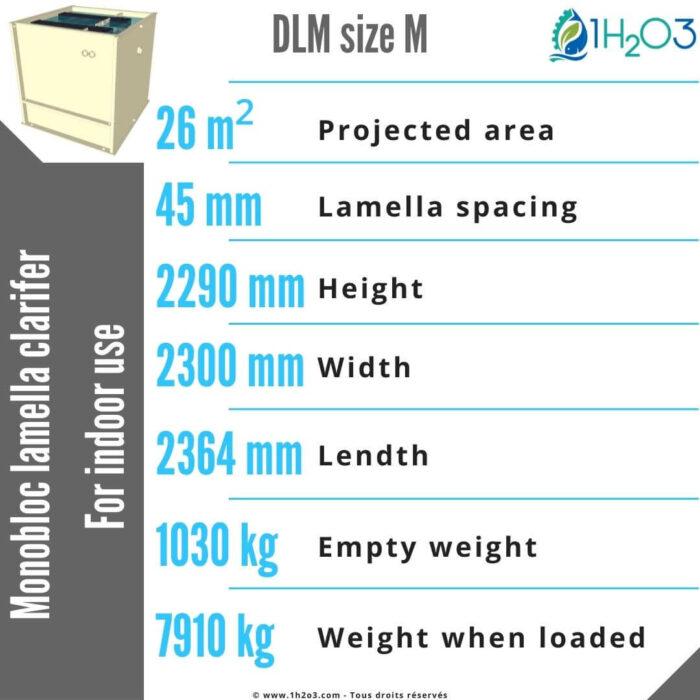 Monobloc lamella clarifier M - DLM-M 27 m² 1h2o3
