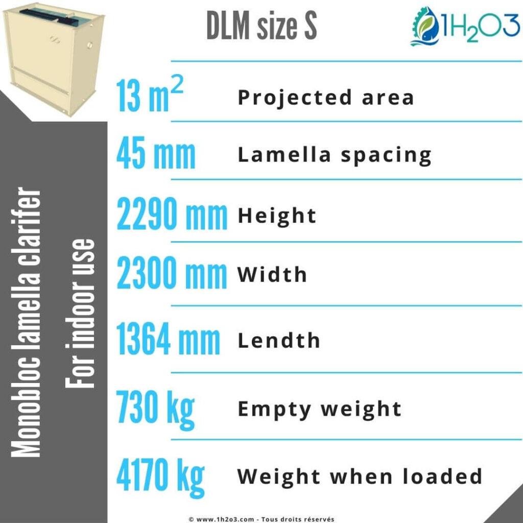 Monobloc lamella clarifier S - DLM-S 13,5 m² 1h2o3