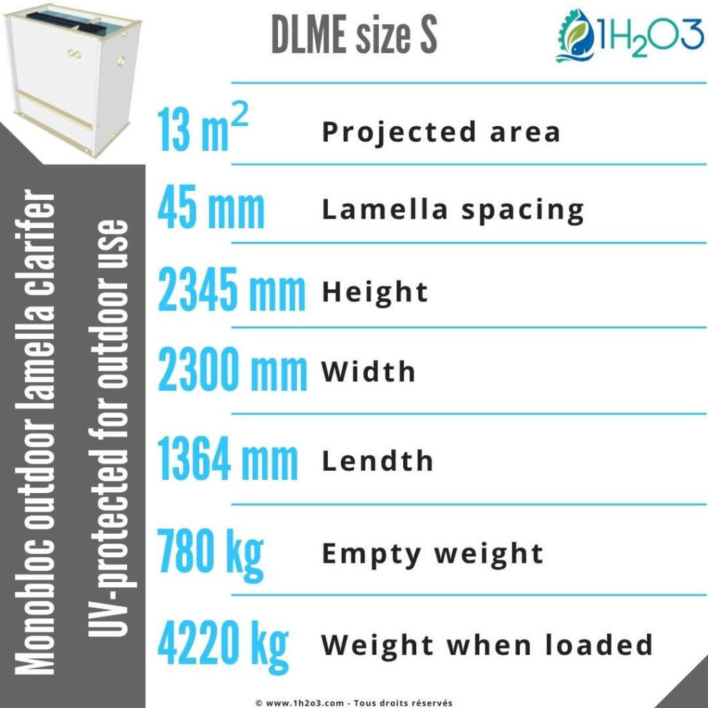 Outdoor monobloc lamella clarifier S - DLME-S 13,5 m² 1h2o3