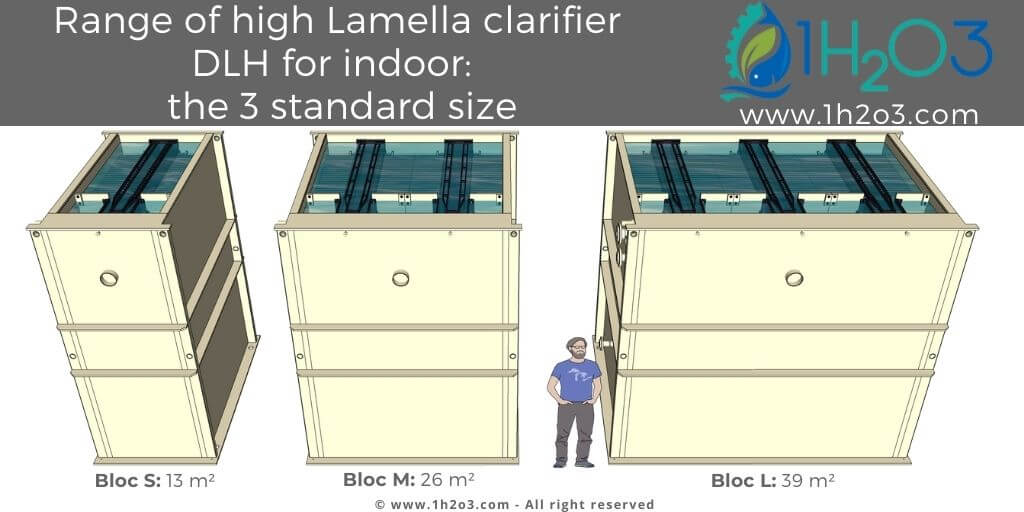Range of high lamella clarifiers DLH for building 1h2o3