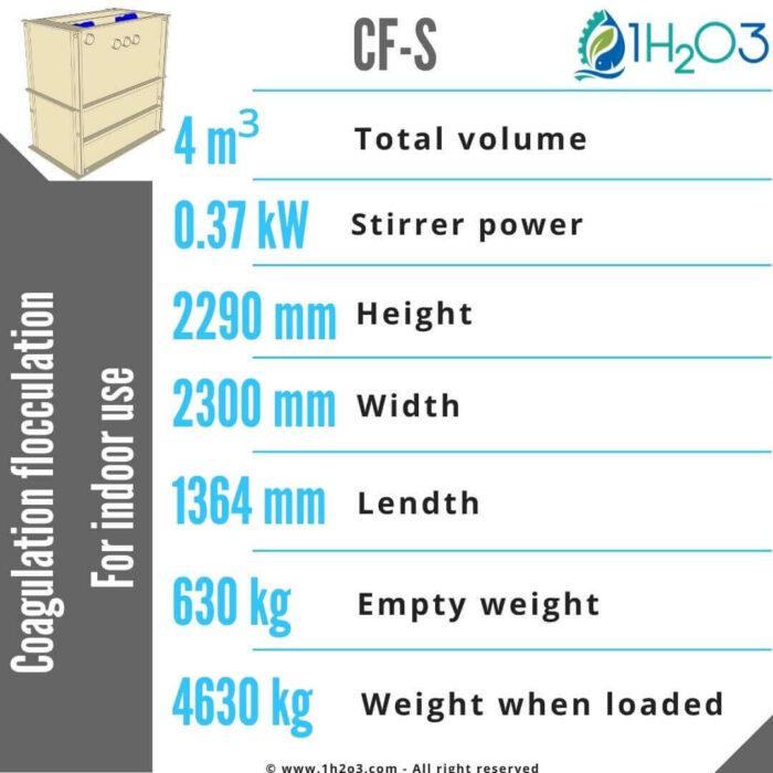 CF-S Coagulation flocculation 4m³-1h2o3