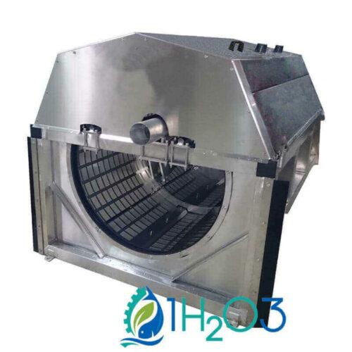 Filtre à tambour canal aquaculture 1h2o3