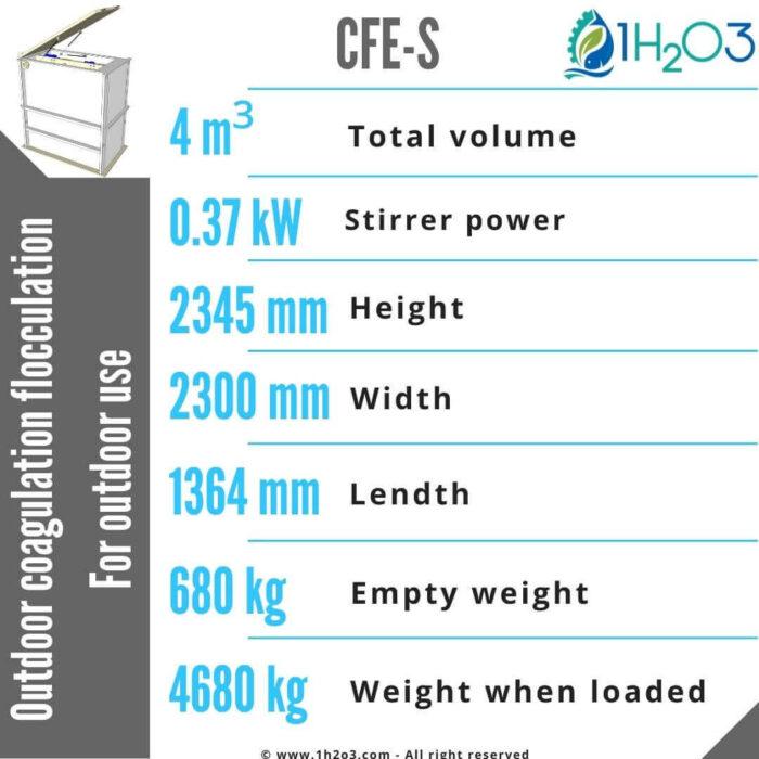 Outdoor coagulation flocculation CFE-S-4m³-1h2o3